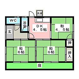 [一戸建] 岐阜県羽島市福寿町間島6丁目 の賃貸【岐阜県 / 羽島市】の間取り
