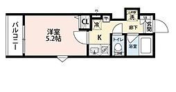 東武東上線 朝霞駅 徒歩3分の賃貸アパート 1階1Kの間取り