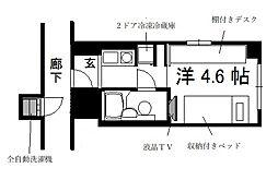 コスモリード京都今出川[8階]の間取り