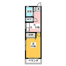 静清ハイツM2[2階]の間取り