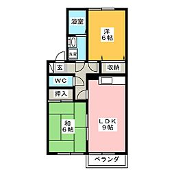 セジュールS[2階]の間取り