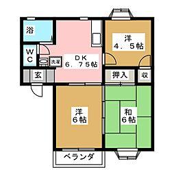 コートビレッジC棟[2階]の間取り