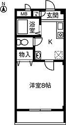 ラポール絲田[203号室]の間取り