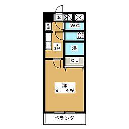 サンクチュアリー亀山[1階]の間取り