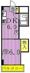 吉野沢マンション[307号室]の間取り