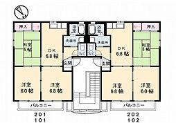 プティボア21[1階]の間取り