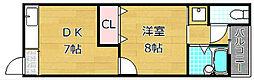 樋之上町マンション[2階]の間取り
