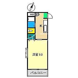 メゾンレーヴ高須[2階]の間取り
