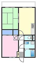 松栄コーポラス[2階]の間取り