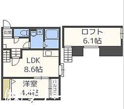 福岡県福岡市博多区吉塚4丁目の賃貸アパートの間取り
