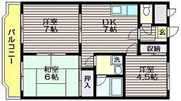 東京都世田谷区粕谷1の賃貸マンションの間取り