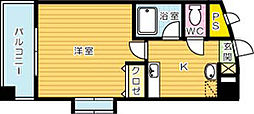 藤本ビルNo.21[404号室]の間取り