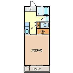 コーポAI[1階]の間取り