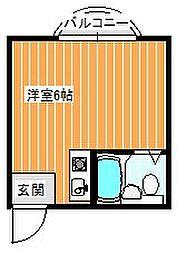 プレアール中加賀屋[4B号室]の間取り