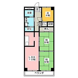 シティハイツK2[2階]の間取り