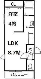 シリパ・コトニ3・4[3階]の間取り