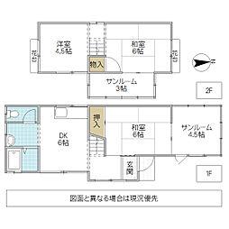 [一戸建] 茨城県土浦市真鍋 の賃貸【/】の間取り