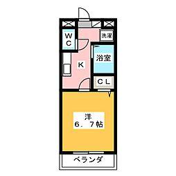 SHINONOMEハイツ[3階]の間取り
