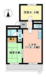 愛知県名古屋市中川区牛立町4丁目の賃貸マンションの間取り