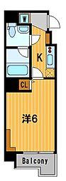神奈川県横浜市中区野毛町1丁目の賃貸マンションの間取り