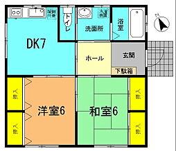 [一戸建] 神奈川県平塚市めぐみが丘1丁目 の賃貸【/】の間取り