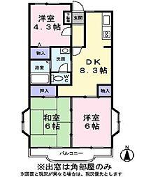 メゾン・ド・ソフィア[1階]の間取り