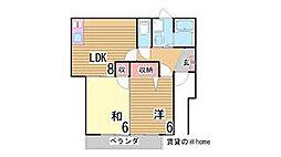 兵庫県神戸市垂水区西舞子3丁目の賃貸アパートの間取り