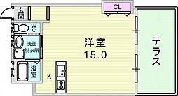 兵庫県神戸市灘区篠原北町3丁目の賃貸アパートの間取り