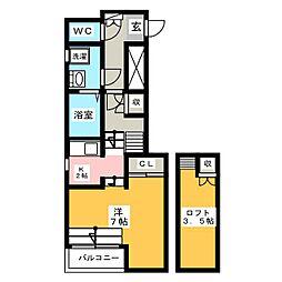 リアン アーブル博多駅東[1階]の間取り
