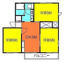 メゾンKUNIHARA C[201号室]の間取り