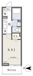 仮)西所沢2丁目計画 2階1Kの間取り
