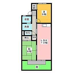 エーデルハイム[1階]の間取り