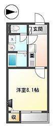 愛知県清須市春日小松生の賃貸アパートの間取り