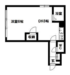 DEVEX382(デベックス382)[406号室号室]の間取り