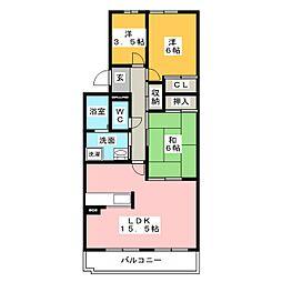 サニーコート勝川北[2階]の間取り