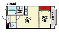 第2光栄コーポ[2階]の間取り