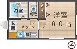 東京都中野区本町2丁目の賃貸アパートの間取り