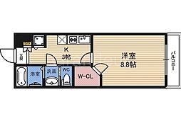 大阪府大阪市城東区蒲生3丁目の賃貸アパートの間取り