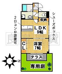 愛知県名古屋市千種区田代本通3丁目の賃貸マンションの間取り