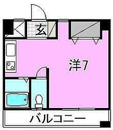 プランドール木屋町[402 号室号室]の間取り