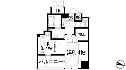 ラ・クラシカ宝塚武庫山[3階]の間取り