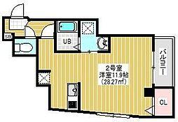 BRIGHT FUTURE東大島 3階1Kの間取り