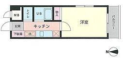 第六倉田ハイツ[206号室]の間取り