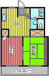 クイーンハイツ[2階]の間取り