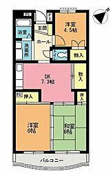 富士ニューハイツ[107号室]の間取り