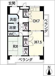 WEST CITY 361[2階]の間取り