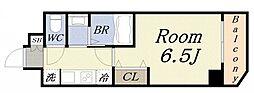 PARK HILLS弁天町Reve 9階1Kの間取り