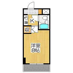 クレール鴨東[408号室]の間取り