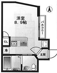 東京都新宿区四谷4丁目の賃貸アパートの間取り