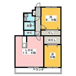 LA LUCE[1階]の間取り